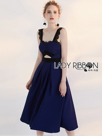 Rosie Sexy Chic Cut-Out Electric Blue Dress