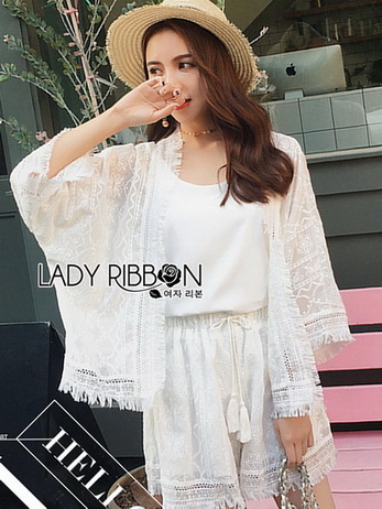 Lady Jenna Street Boho Embroidered Fringed White