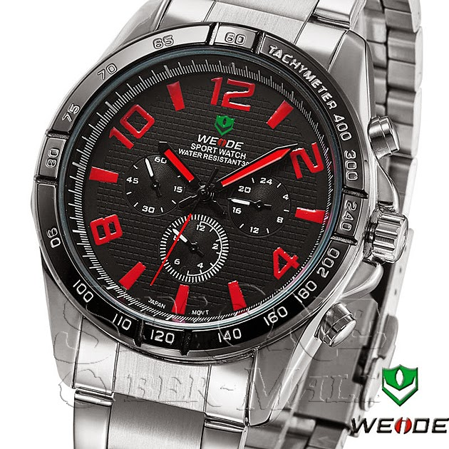 WEIDE – WH-2303-3: Quartz Analog Stainless Steel Sports Watch