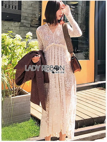 Lace Midi Dress with Slip Dress