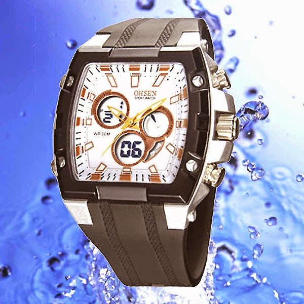 OHSEN - AD0918-2: Dual System Alarm / Chronograph Sports Watch