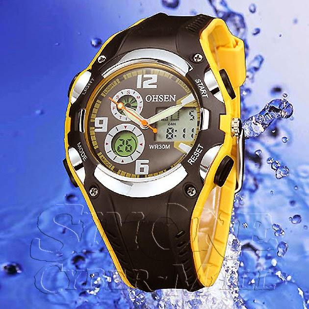 OHSEN – AD1309-5: Dual System Alarm / Chronograph Sports Watch
