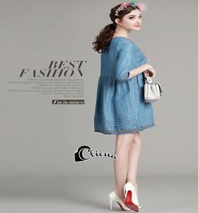 Cute Denim Dress - มินิเดรสผ้าเดนิมเนื้อนิ้มนิ่ม