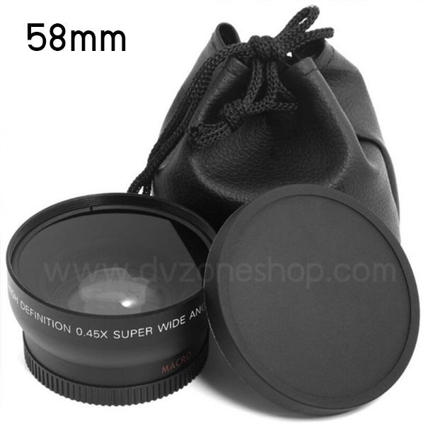 Wide Angle & Macro Conversion 0.45x ขนาด 58mm