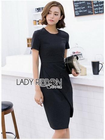 Lady Taylor Minimal Chic Striped Dress