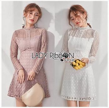 Chic A-line Lace Mini Dress