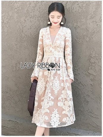 Lady Diana Pure Elegant White and Cream Lace Dress
