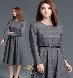 ชุดเดรสแฟชั่นเกาหลีสวยๆผ้ายืดคอตตอน 100%