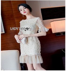 Lady Ribbon Tulle Dress ขายเดรสผ้าทูลเล
