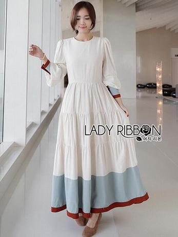Lady Elise Minimal Layered Long Dress