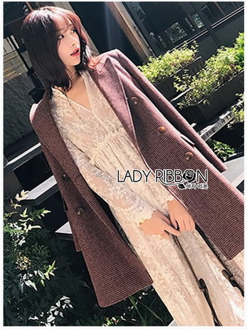 Midi Dress Lady Ribbon with Slip Dress