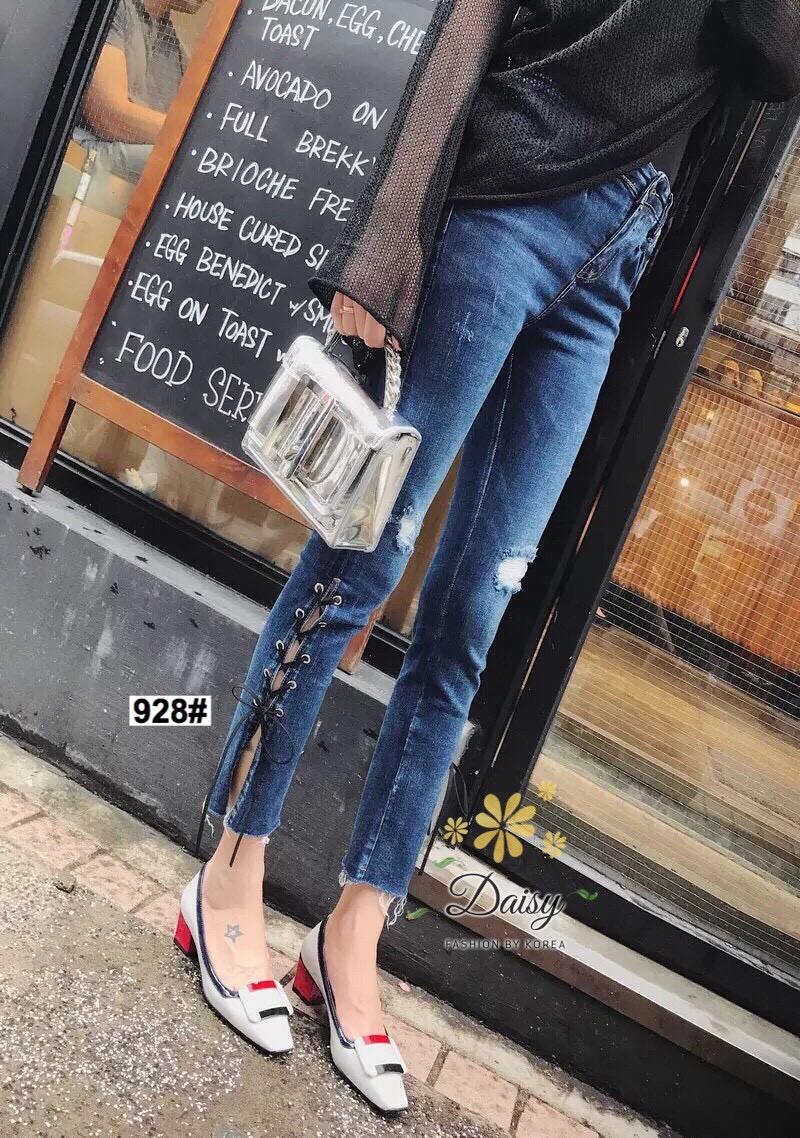 กางเกงยีนส์ทรงเดฟ ผ้ายีนส์ฮ่องกง รุ่นขายาวผลิตมาไซส์ใหญ่ ให้คนสะโพกใหญ่ที่หายีนส์สวยๆใส่ยากค่ะผ้ายีนส์ยืด มีกระเป๋าข้างและ