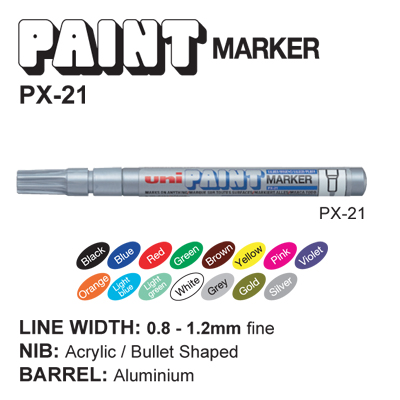 uni PAINT MARKER PX-21 (0.8-1.2 mm.)