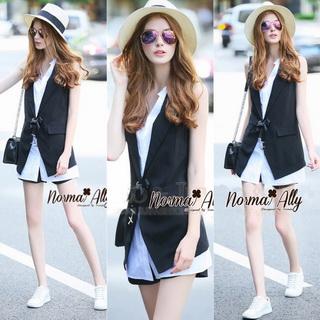Lady Ribbon Online เสื้อผ้าออนไลน์ขายส่ง Normal Ally เสื้อผ้า NA04180816 &#x1F389Normal Ally Present smart blazer and shirt set&#x1F389