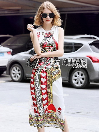 Lady Isabelle Playful Card Printed Sleeveless