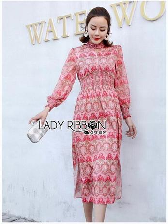 Lady Eva Summer Blossom Smock Printed Dress