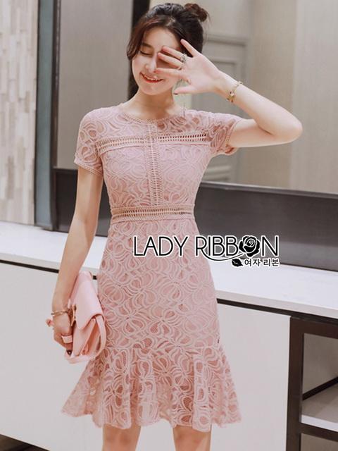 Lady Ribbon Mini Dress มินิเดรสผ้าลูกไม้