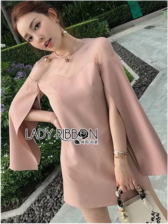 Chic Cape Ribbon Dress
