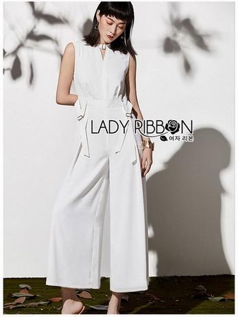 Lady Claire Smart Minimal Belted Jumpsuit