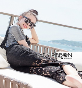 Lady Ribbon Daniella Platinum Overall Lace Jumpsuit