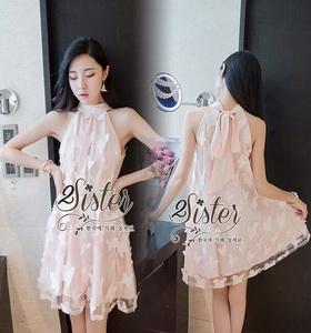 เสื้อผ้าแฟชั่นเกาหลีเดรสลุคสาวหวาน