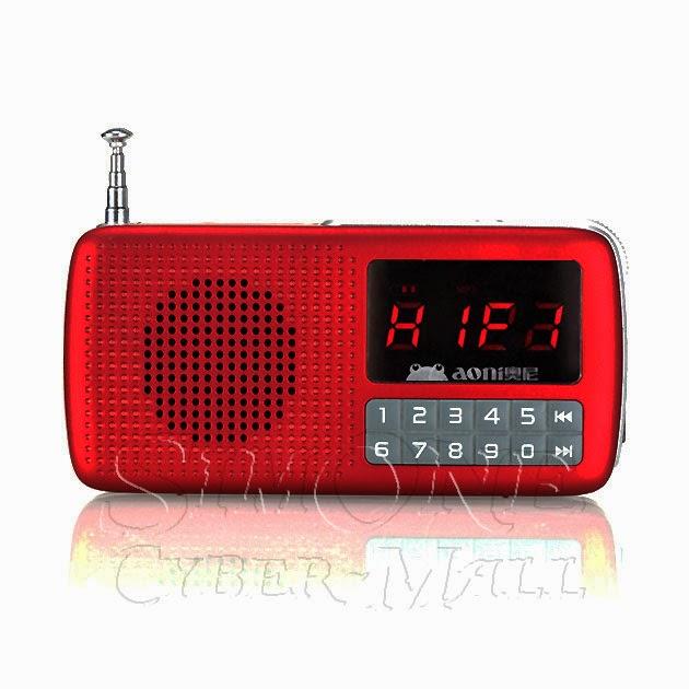 Aoni T810 Mini Portable FM Radio / MP3 Player
