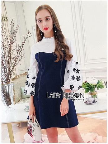 Bishop Sleeve Cotton Dress