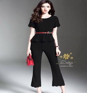 เสื้อกางเกงแฟชั่นผ้าคอตตอนเกาหลีคุณภาพ