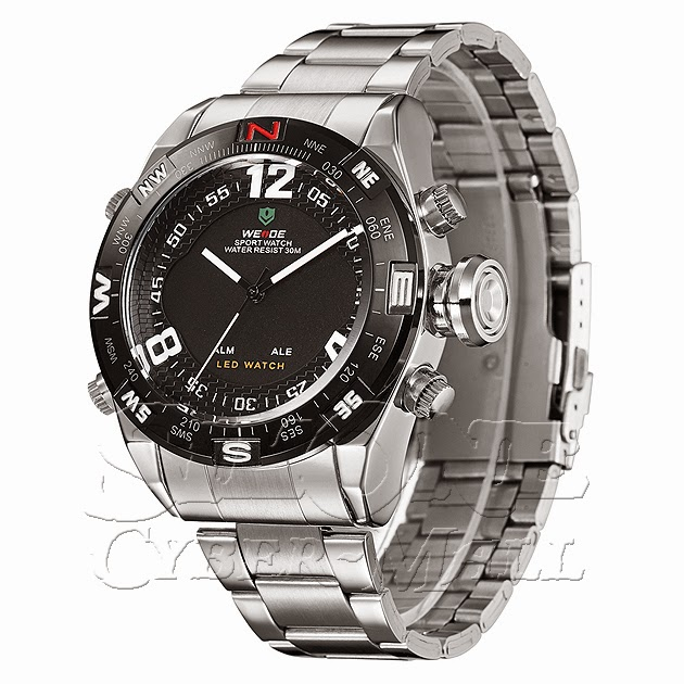 WEIDE – WH2310-1: Dual System with Hidden LED Sports Watch