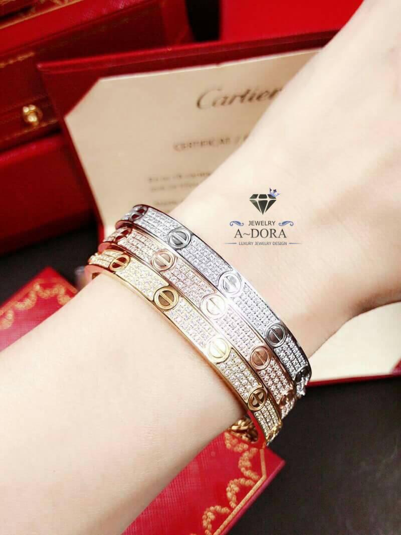 กำไล Cartier เพชรรอบวง 3 ชั้น งานชน Shop งาน Top mirror มาแล้วววว