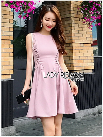 Lady Ribbon Pink Crepe Dress