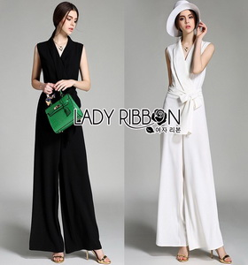 Lady Ribbon Chic Ribbon Crepe Jumpsuit