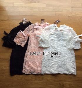 Lady Ribbon Modern Vintage Lace Dress