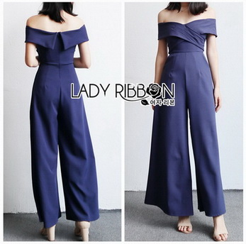 Lady Minimal Chic Off-Shoulder Twist Jumpsuit