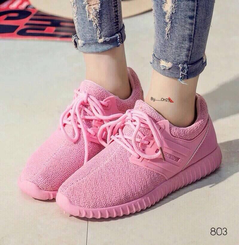 รองเท้าผ้าแบบสวมใบสีสันสดใสน่ารัก
