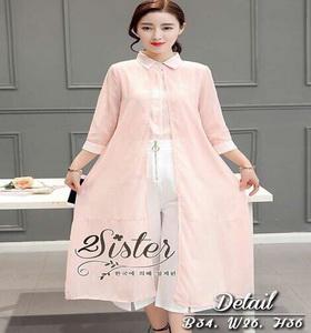 เสื้อผ้าแฟชั่นเกาหลีเซ็ตเสื้อกางเกง