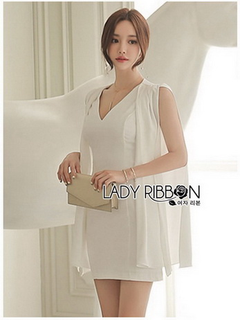 Lady Taylor Minimal Chic White Crepe