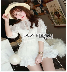 Lady Ribbon Lace LANDMEE Playsuit เพลย์สูท