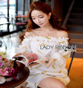 Lady Ribbon Organza Dress ขายส่งเดรสผ้าแก้ว