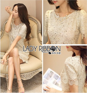 Lady Ribbon Abigail Sweet Lace Dress