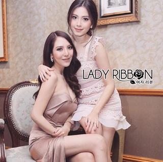 LR04290816 &#x1F380 Lady Ribbon's Made &#x1F380 Self-Portrait Petunia Panelled Midi Dress เดรสผ้าลูกไม้