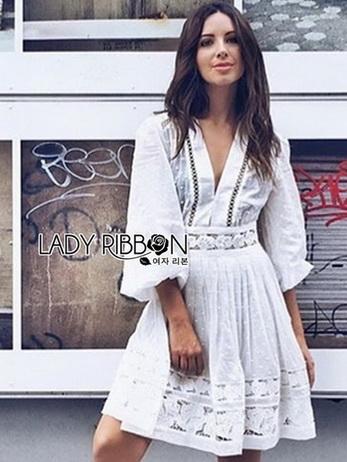 Lady Grace White Chiffon Mini Dress
