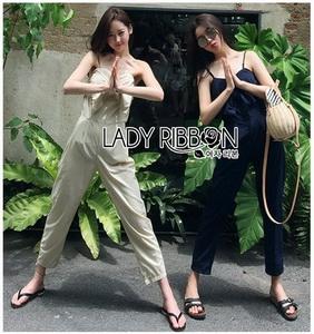 Lady Lily Casual Chic Ribbon Jumpsuit จัมป์สูทสายเดี่ยว
