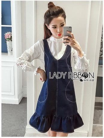 Shirt Set Lady Ribbon ขายเซ็ต