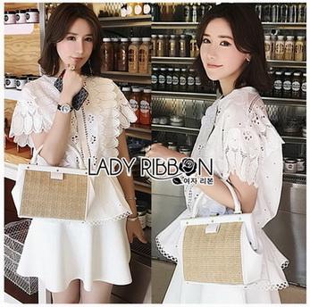Lady Ribbon Nadia Laser-Cut White Cotton