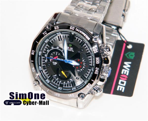 WEIDE – WH-1011-1: Quartz Analog Stainless Steel Sports Watch