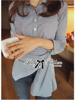 Lady Andrea Minimal Avant-Guard Detailed Shirt