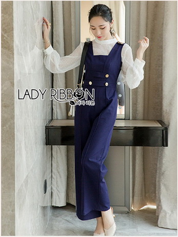 White Blouse with Jumpsuit Set
