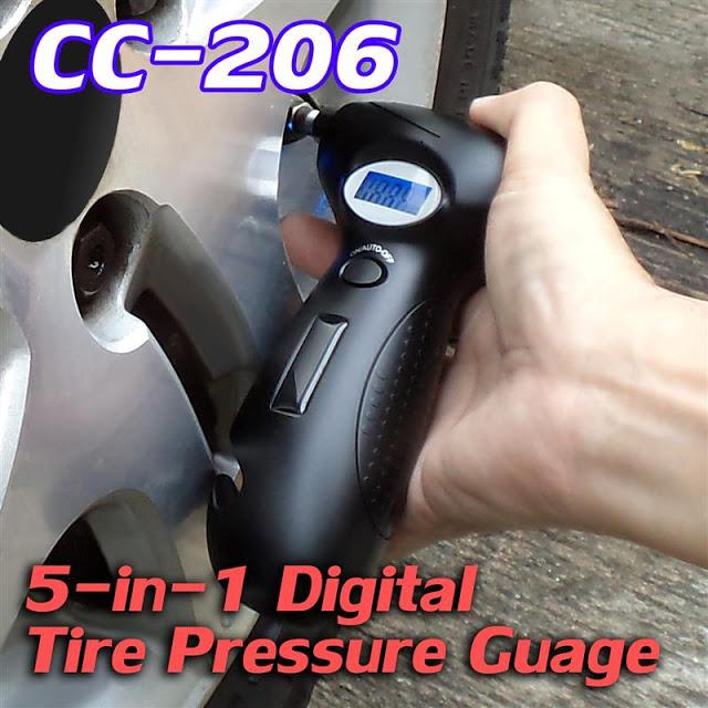 CC-206 5-in-1 Digital Tyre Gauge