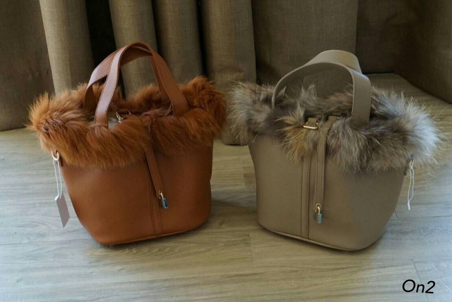 &#x1F49E*Hermes Picotin Fur bag*&#x1F49E